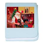 Santa's Dachshund (LH-B) baby blanket