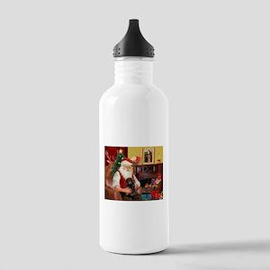 Santa's Dachshund (LH-B) Stainless Water Bottle 1.