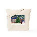 Xmas Magic/Red Dobie Tote Bag