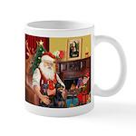 Santa's 2 Dobermans Mug