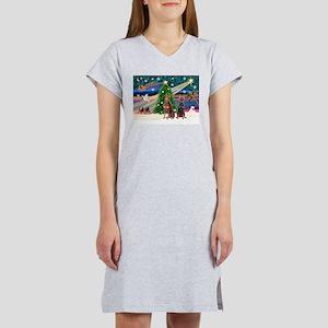 XmasMagic/2 Dobies (P3) Women's Nightshirt