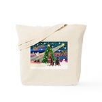XmasMagic/2 Dobies (P3) Tote Bag