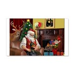 Santa's Dobie (Bz) 22x14 Wall Peel