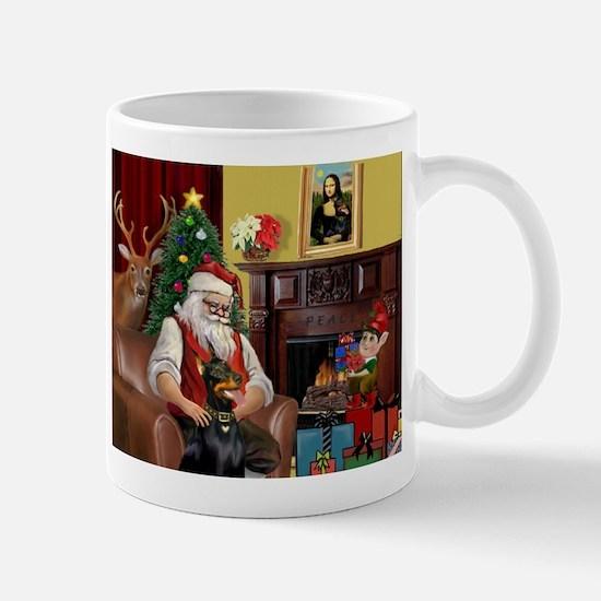 Santa's Dobie (Bz) Mug