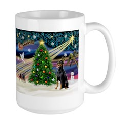 XmasMagic/Dobie (1) Large Mug