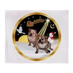 Night Flight/2 Eng Bulldogs Throw Blanket