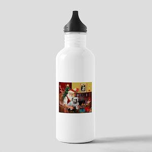 Santa's white EBD Stainless Water Bottle 1.0L