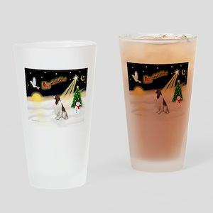 Night Flight/Eng Springer L3 Drinking Glass