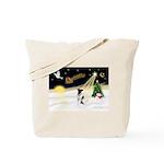 Night Flight/Fox Terrier Tote Bag