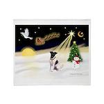 Night Flight/Fox Terrier Throw Blanket
