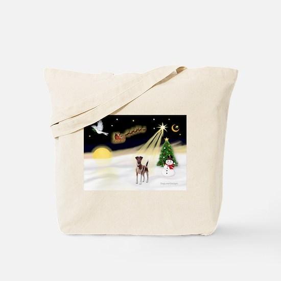 Night Flight/Fox Terrier 5 Tote Bag