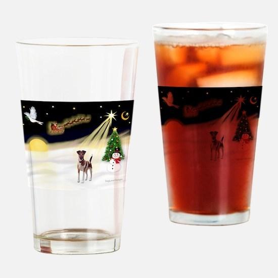Night Flight/Fox Terrier 5 Drinking Glass