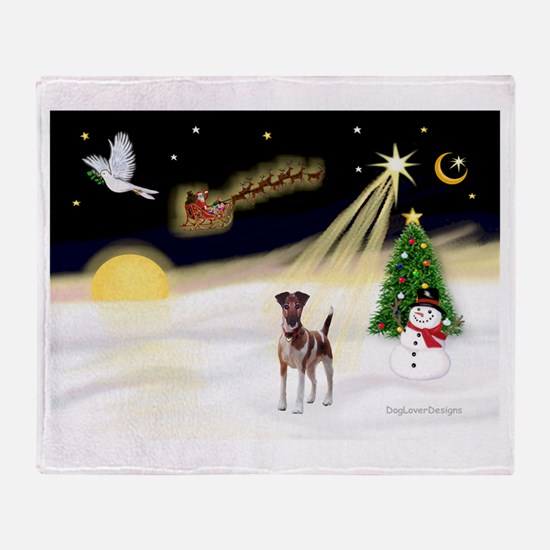 Night Flight/Fox Terrier 5 Throw Blanket