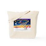 XmasSunrise/Fox Ter #4 Tote Bag