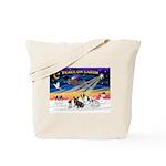 XmasSunrise/4 Fr Bulldogs Tote Bag