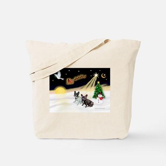 Night Flight/2 Fr Bulldogs Tote Bag