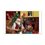 Santa's G-Shepherd (#2) 20x12 Wall Decal