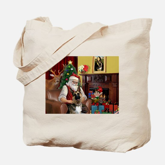 Santa's G-Shepherd (#2) Tote Bag