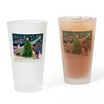 XmasMagic/G Shepherd 2 Drinking Glass