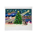 XmasMagic/G Shepherd #10 Throw Blanket