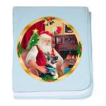 Santa's German Shepherd #15 baby blanket