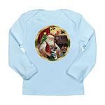 Santa's German Shepherd #15 Long Sleeve Infant T-S
