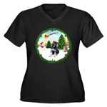 Take Off1/German Shpherd Pup Women's Plus Size V-N