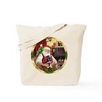 Santa's German Shepherd Pup Tote Bag