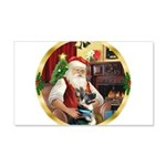 Santa's German Shepherd #15 22x14 Wall Peel