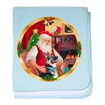 Santa's German Shepherd #15 baby blanket