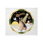 Night Flight/ German Shepherd Throw Blanket