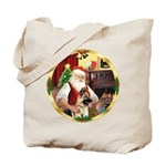 Santa's German Shepherd #13 Tote Bag