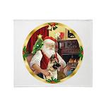 Santa's German Shepherd #13 Throw Blanket