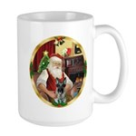 Santa's German Shepherd #12 Large Mug