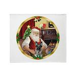 Santa's German Shepherd #12 Throw Blanket