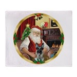 Santa's German Shepherd #12 Throw Blanket