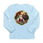 Santa's German Shepherd #12 Long Sleeve Infant T-S