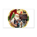 Santa's 2 German Shepherds 22x14 Wall Peel