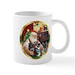 Santa's 2 German Shepherds Mug