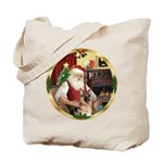 Santa's German Shepherd #11 Tote Bag