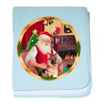 Santa's German Shepherd #11 baby blanket