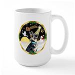 Night Flight/German Shepherd Large Mug