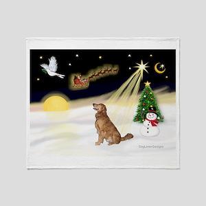 Night Flight/Golden 12 Throw Blanket