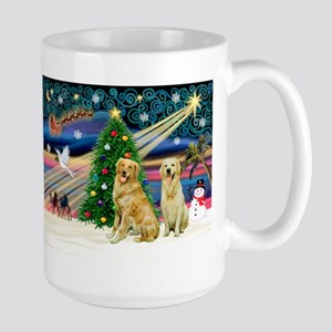 Xmas Magic & Golden pair Large Mug