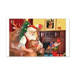 Santa's Golden (#3) 22x14 Wall Peel