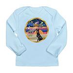 XmasStar/ Gr Dane (blk) Long Sleeve Infant T-Shirt