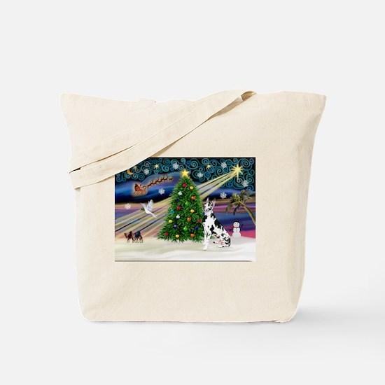 XmasMagic/Great Dane (H) Tote Bag