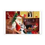 Santa's Great Dane (H) 22x14 Wall Peel