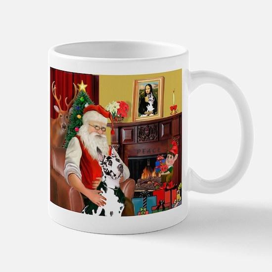 Santa's Great Dane (H) Mug