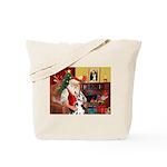 Santa's Great Dane (H) Tote Bag